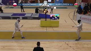 FE 2018 T32 07 M F Individual Yerevan ARM U23 European Championships YELLOW KURYLOVICH BLR vs RZADKO