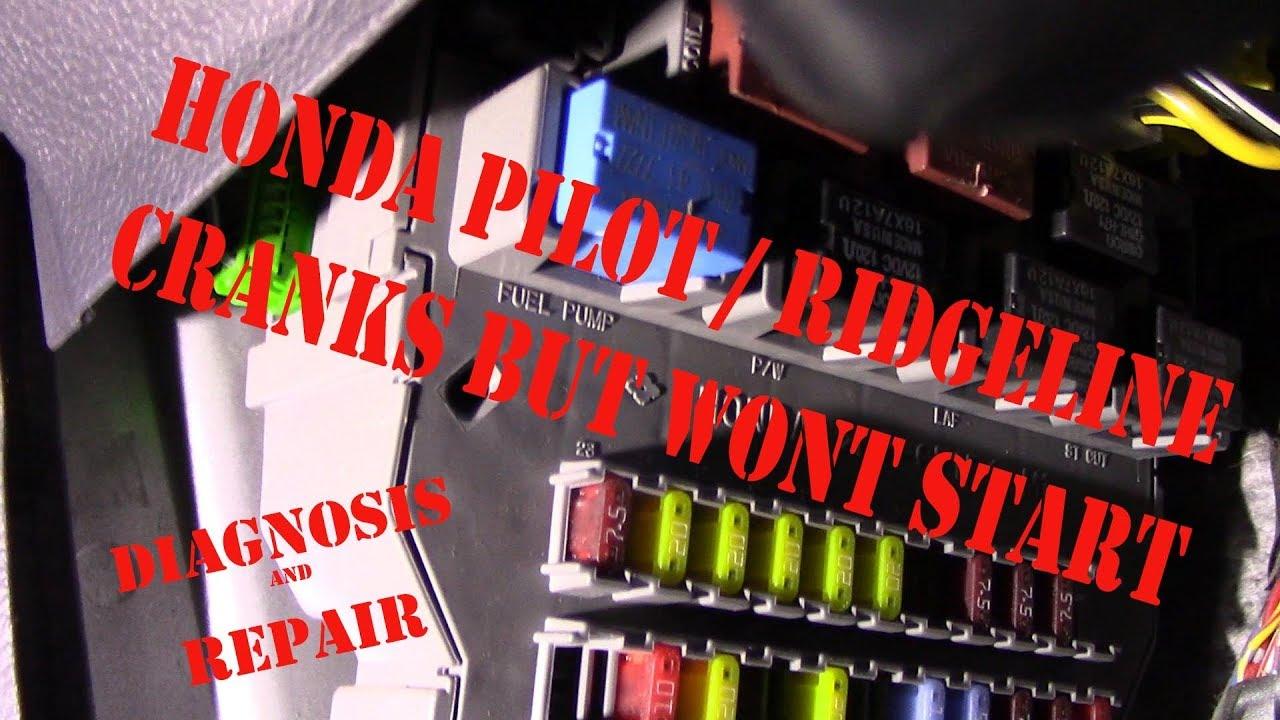 honda pilot ridgeline cranks but wont start diagnosis youtubehonda pilot ridgeline cranks but wont start diagnosis