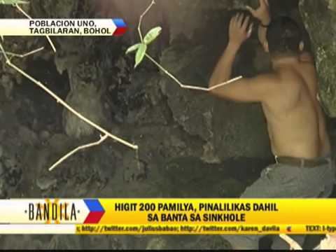 Tagbilaran villagers ordered to evacuate amid sinkhole threat