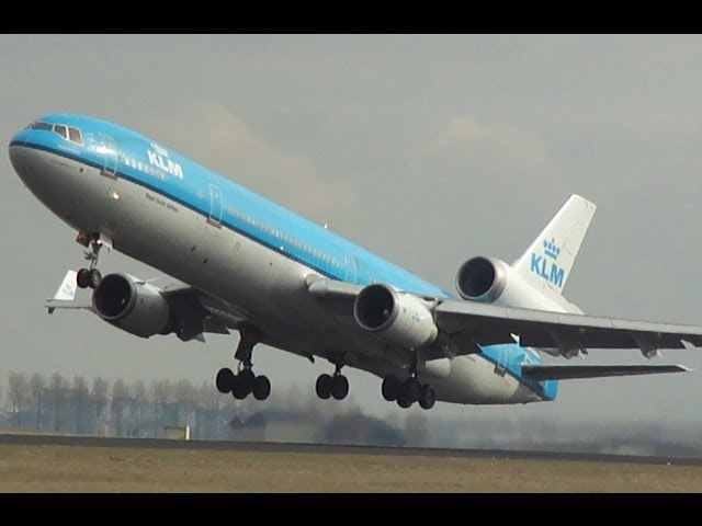 Heavies take off at Schiphol Amsterdam Airport! Travel Video