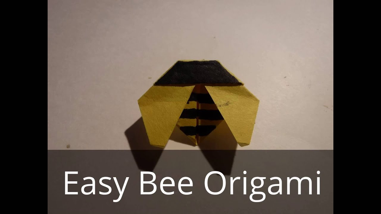 Easy Bee Origami Youtube