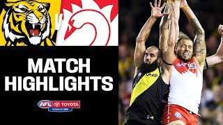 Gambar cover Buddy makes history in tense clash | Richmond v Sydney Highlights | Round 5, 2019 | AFL