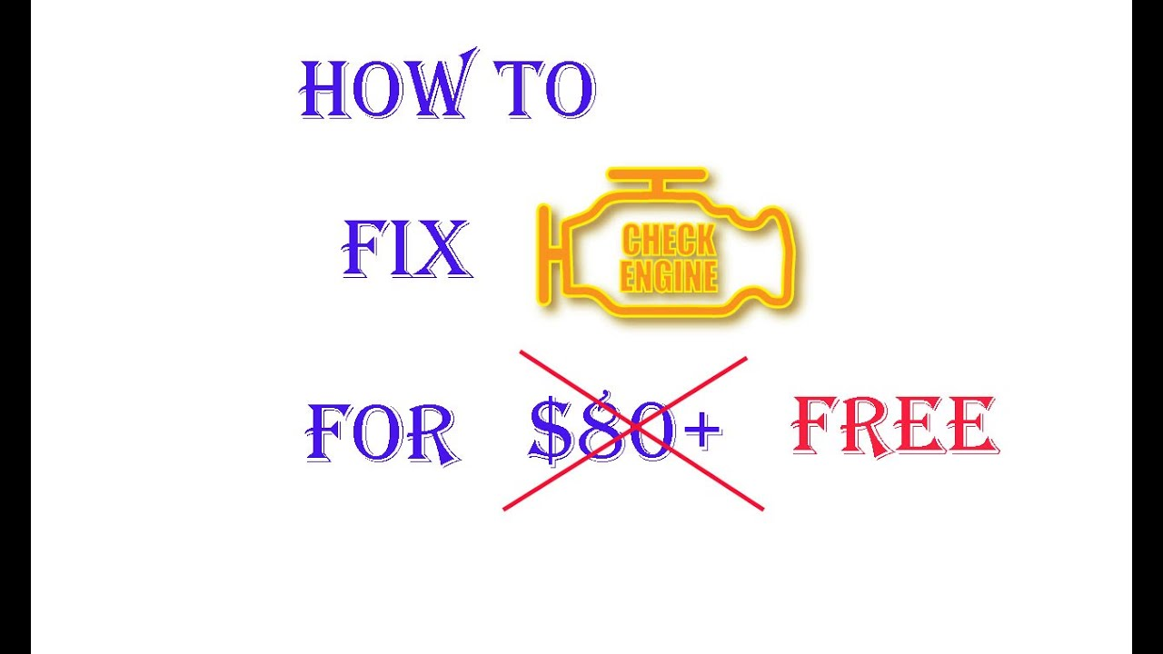 How to fix check engine lighting for free