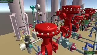 виртуальный тренажёр в Unity. Установка получения водорода из ВСГ методом КЦА. PSA Hydrogen