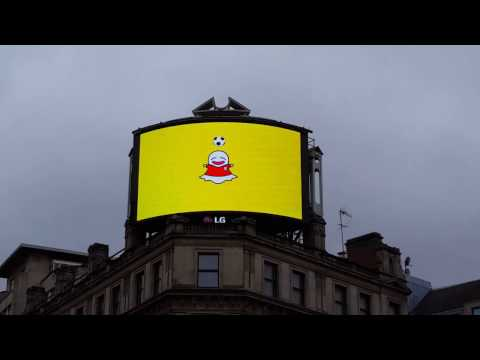 Snapchat Shares Advertising Week Europe London Advert in Picadilly circus