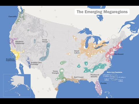 US GOVERNMENT IS CARRYING OUT THE AMERICA 2050 MEGAREGIONS PLAN. FULL VIDEO.
