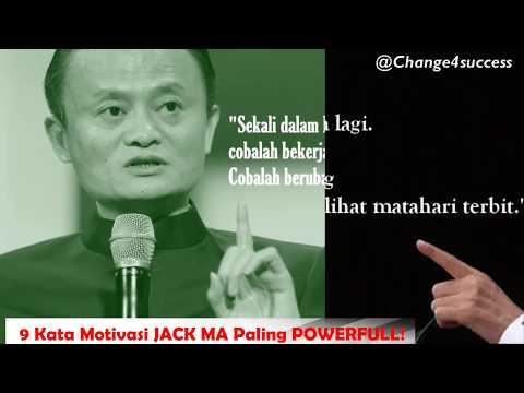 BARU! 9 Kata Motivasi Jack Ma Paling POWERFULL! 2018!