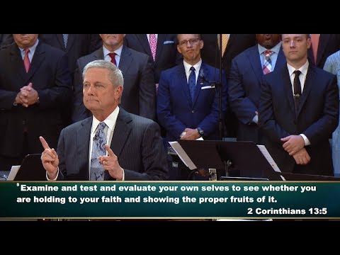"""""""Examine Yourself"""" pastor Loran Livingston, Central Church, July 1, 2018"""