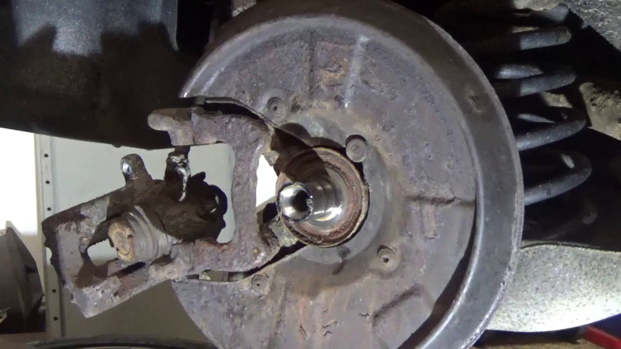 How To Replace Rear Wheel Bearing Audi A4 Youtube