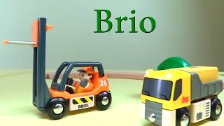 Рабочие машины Брио: погрузчик, грузовик, бетономешалка