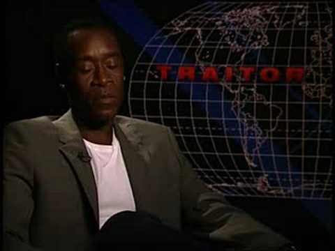 Don Cheadle interview for Traitor in You Tube HD