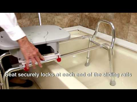 77663 - Swivel Sliding Bath Transfer Bench with Replaceable Cut-Out Seat by Eagle Health Supplies