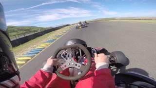 450cc Go Kart on the track.