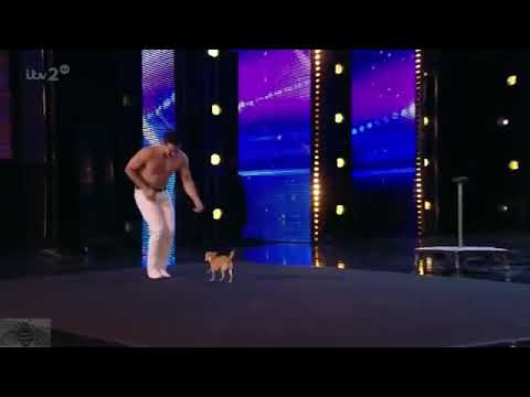 Wow! Owner Performs Yoga With Dog ( Britain's Got Talent )