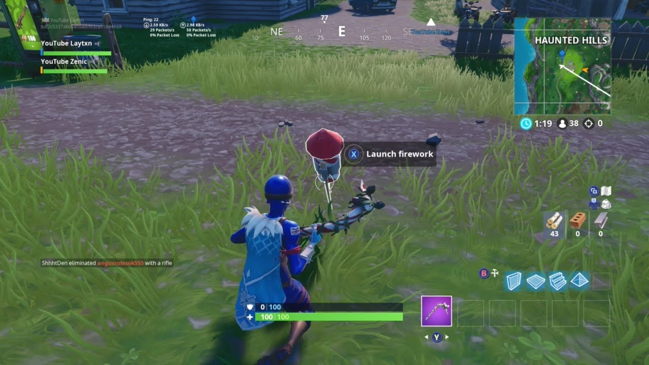 Launch Fireworks 3 Locations Fortnite Week 4 Challenges Youtube