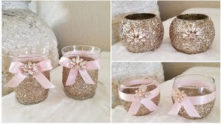 DIY | 6 GLAMOROUS DOLLAR TREE CANDLE HOLDERS | QUICK AND EASY DIY | INEXPENSIVE DECOR 2019