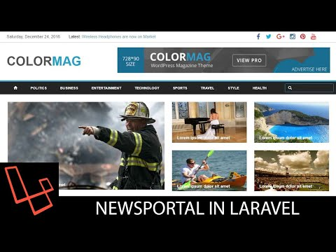 News Portal In Laravel | Tutorial | Lesson 8 | Authentication | webtrickshome