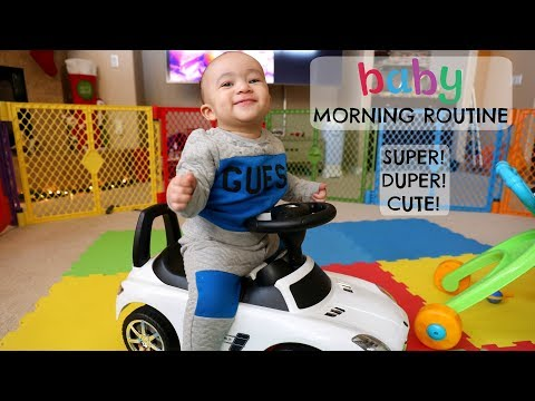 BABY MORNING ROUTINE *CUTEST  EVER*  Domo Wilson