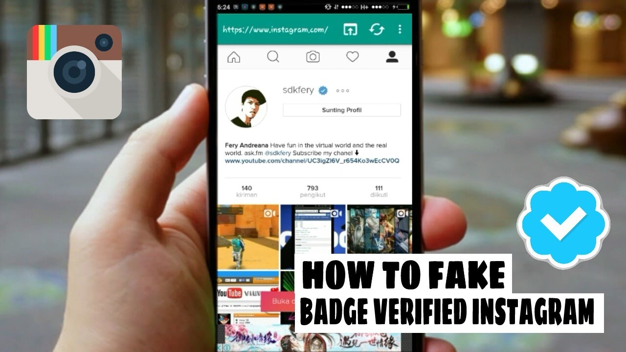 How to fake badge verified instagram || 2017