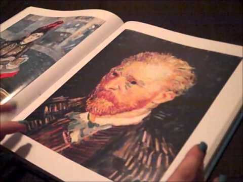 [ASMR] Van Gogh Art Book Show and Tell. (Whispering, Page touching/turning, tapping, hand movement)