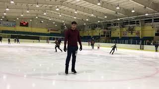 УРОКИ ПО ФИГУРНОМУ КАТАНИЮ №6. Как делать винт, вращение (Ice skating tutorial №6. Upright spin)