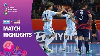 Argentina v USA | FÏFA Futsal World Cup 2021 | Match Highlights