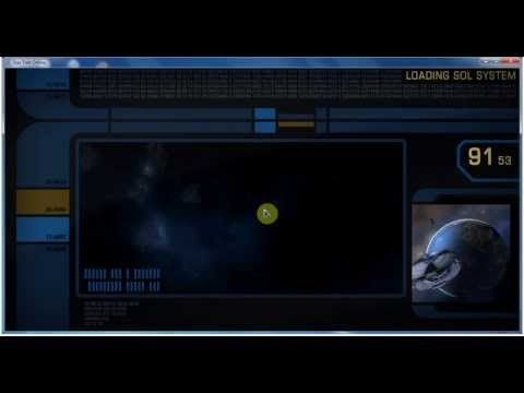 Star Trek Online: Depart Earth Space Dock and leave the Solar System.