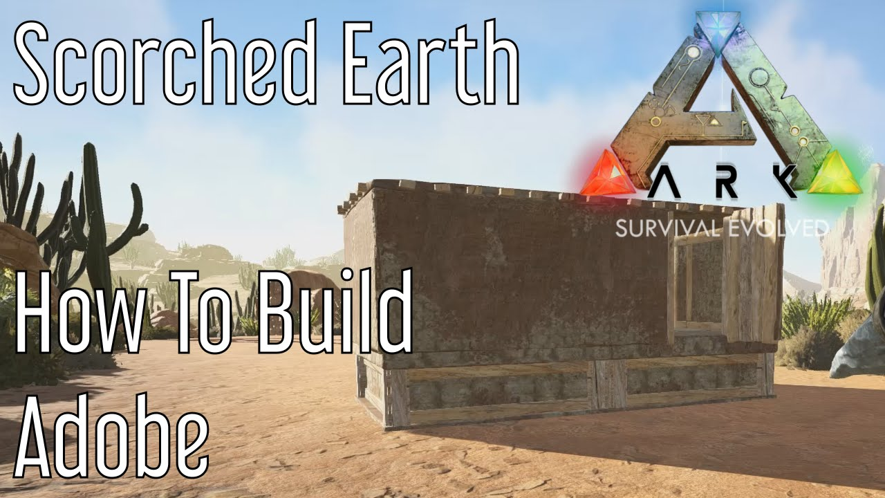 Building adobe structures in ark scorched earth youtube for Building an adobe house
