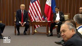 WATCH: President Trump, Philippine President Duterte make joint statements