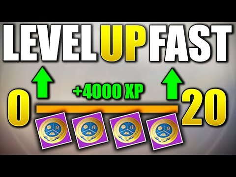 Destiny 2 - HOW TO LEVEL UP INSANELY FAST! 0 - 20 REALLY QUICK!