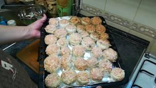 Очень вкусные фаршированные шампиньоны в духовке. stuffed mushrooms in the oven.