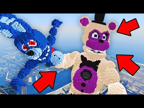 Minecraft Five Nights at Freddys | GIGA Funtime Freddy vs Toy Bonnie! (FNAF vs Superheroes)