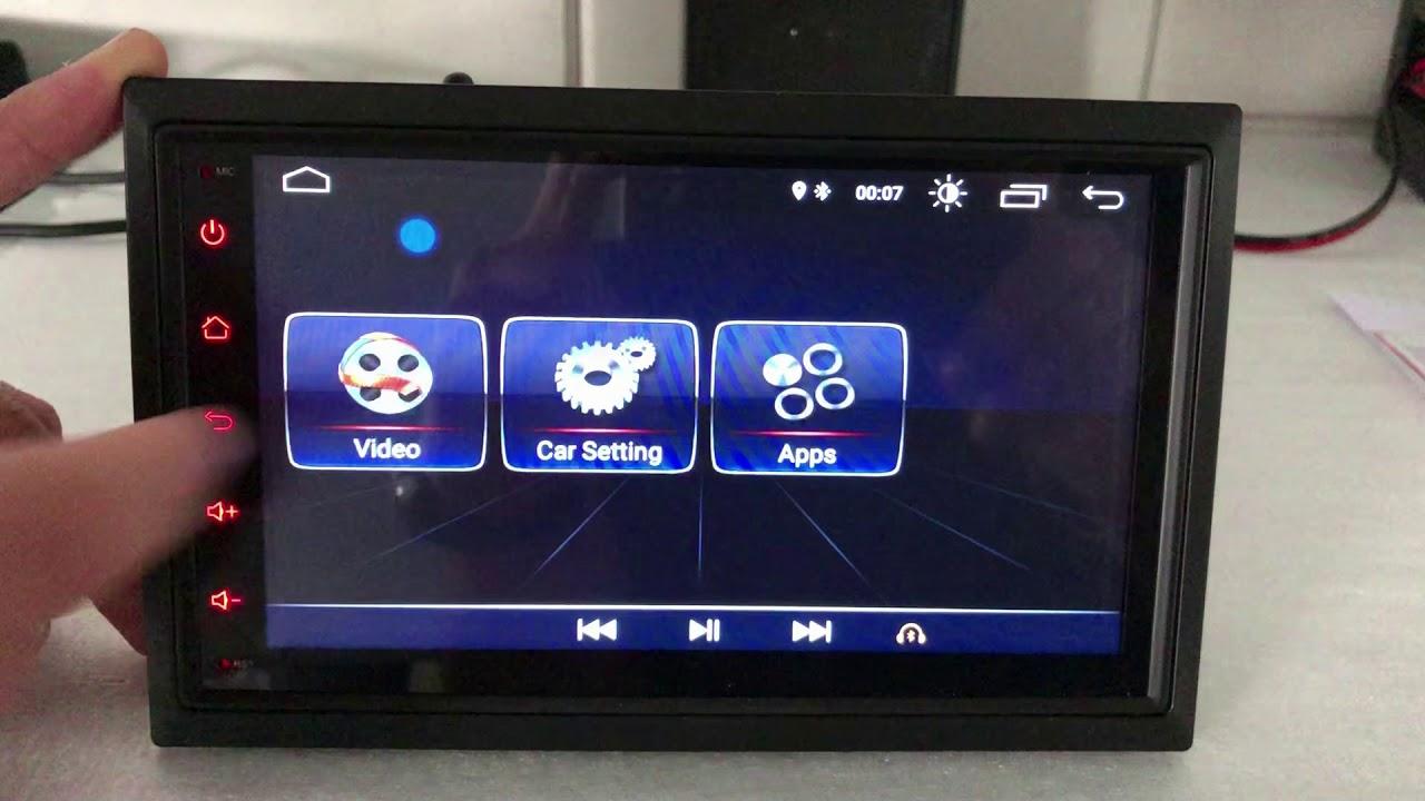 Universal 2 DIN Android 8 1 Carpar AU810 Stereo Demonstration