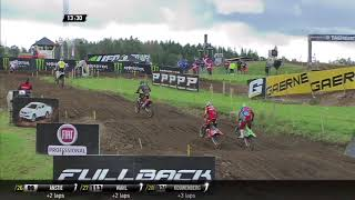 Herlings, Desalle, Bobryshev Fight - MXGP of Sweden 2017