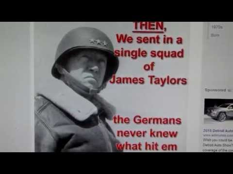 "National Talk Radio Presents: Brigadier General James Taylor to France, ""You've Got A Friend."""