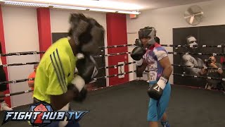 Terence Crawford Vs. Yuriorkis Gamboa: Full Gamboa Sparring Session