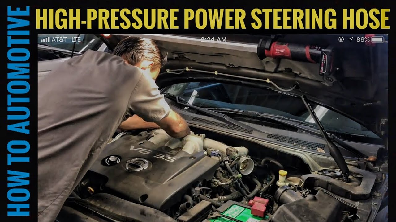 How to Replace the High Pressure Power Steering Hose on a 20012006 Nissan Altima with 35L