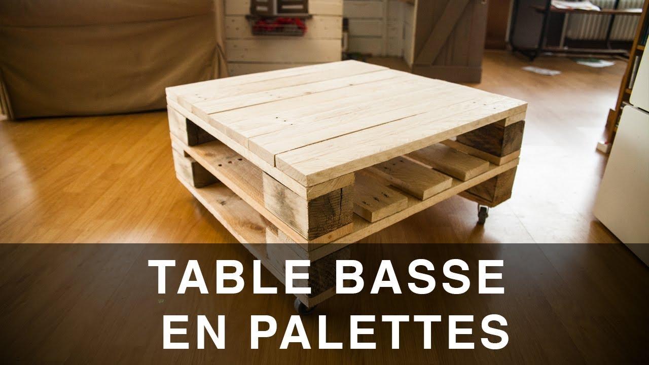 table basse en palettes industrielle