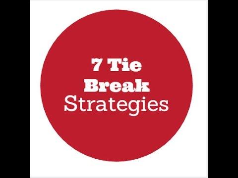 7 best tips and strategies tie breaker