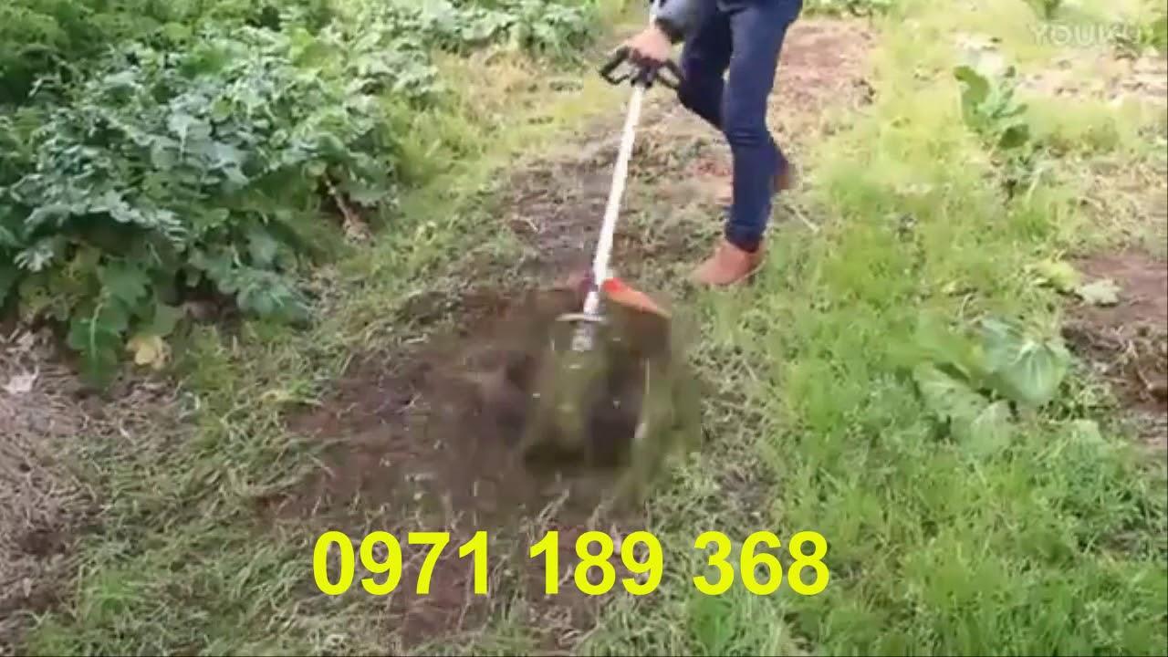 Máy xạc cỏ xới đất cầm tay đa năng - YouTube