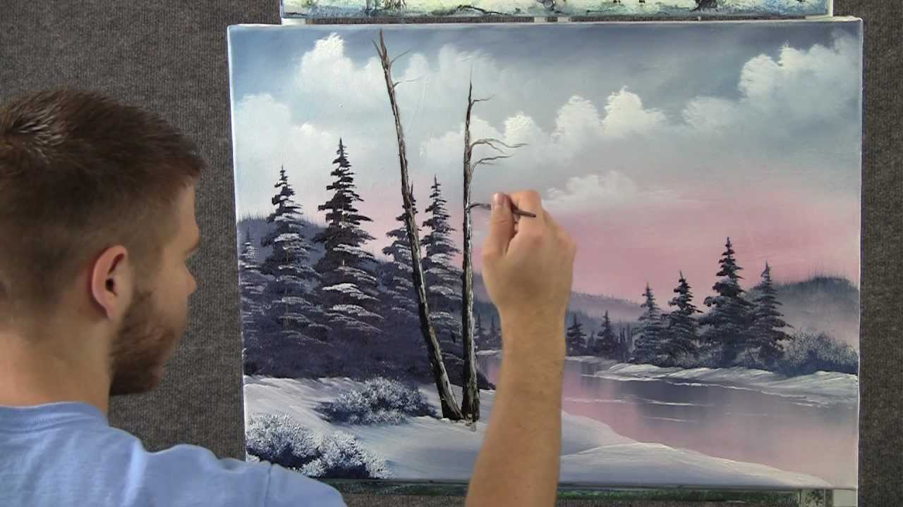 Paint With Kevin Hill Frosty Morning Wet On Wet Hd Youtube