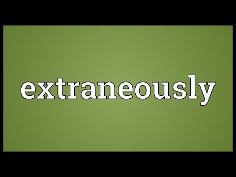 Header of extraneously