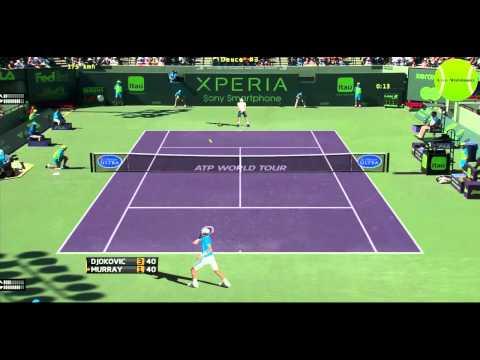 (HD) Djokovic vs Murray -Miami 2015 highlights -Tennis Elbow 2013 Gameplay