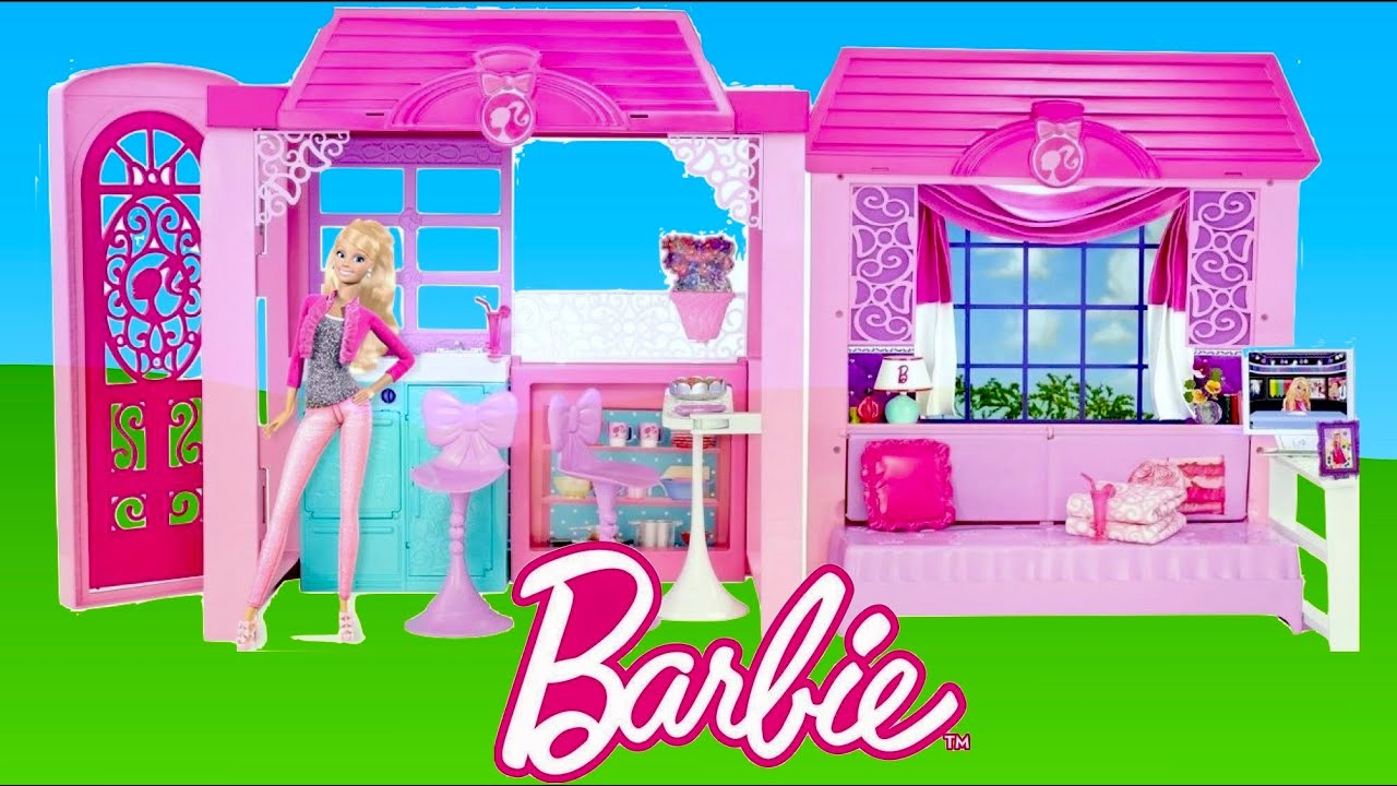 Barbie Glam Vacation House Unboxing And Tour Thechildhoodlife Youtube