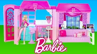 Barbie Dolls Glam Vacation House - Barbie Life in the dreamhouse Holiday Home