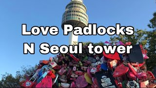 Love Padlocks and N Seoul Tower