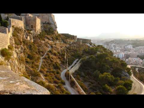 From castle of Santa Barbara, Alicante, Spaint