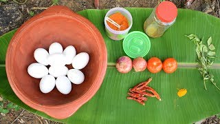 Amazing Clay Pot Cooking Quick and Easy Egg Breakfast Tasty Recipe