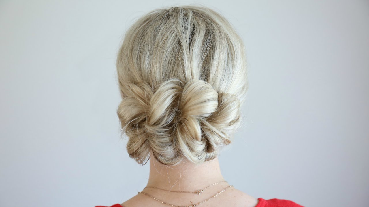 pull-thru updo | cute girls hairstyles