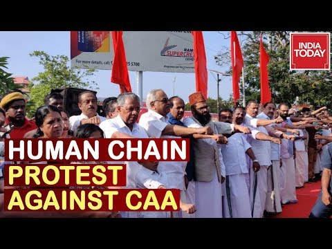 620 KM Long Human Chain Protest Against CAA On Republic Day In Kerala